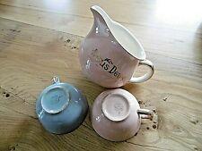 Pot à lait + 2 tasses Villeroy & Boch Mettlach collection Nous Deux