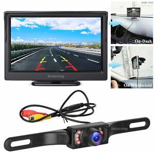 Car Reversing Camera Kit, 5'' Monitor w/ Waterproof Night Vision Rearview Camera