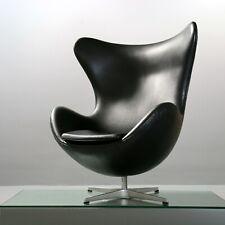 Original Egg Chair von Arne Jacobsen für Fritz Hansen schwarz Leder ca. 1985