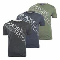 Mens Crosshatch T-Shirt Graphic Crew Neck Tee Top Concept Gradients
