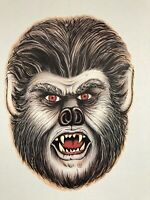 Vintage Beistle Werewolf Face Diecut 1983 Two Sided