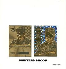 "DALE EARNHARDT SR. 1999 ""UNCUT"" PRINTERS PROOF 23KT GOLD CARD! LIMITED TO 2,000!"
