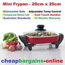 ELECTRIC FRYPAN MAXIM MINI 20cm x 20cm COOKING NON STICK TEMP CONTROL DISHWASHER