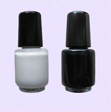 Stamping Lack 4,5 ml weiß + schwarz Nail Art Stampinglack