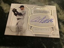 2020 Topps Definitive Andy Pettitte Legendary Autograph Collection /35 Yankees