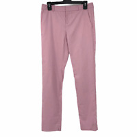 Banana Republic Womens Pink Mid Rise Ryan Fit Designer Straight Leg Pants Size 2