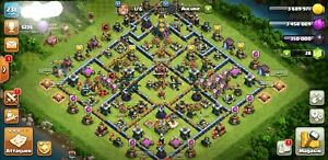 vend compte clash of clan hdv 14