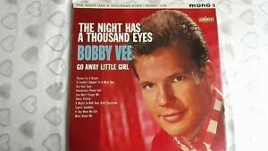 "BOBBY VEE     ""THE NIGHT HAS A THOUSAND EYES""     VINYL LP RECORDS"
