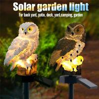Solar Power LED Owl Lawn Light Waterproof Garden Walkway Lamp Path Yard Decor