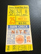 NEW YORK METS 1963 TICKET STUBS, PLEASE PICK 1.  PLEASE SEE PICTURES
