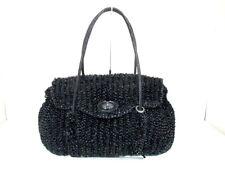Auth ANTEPRIMA Wire Bag Black Wire Satin Handbag
