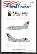 AeroMaster Vikings Lo-Visibility Part 6 Decals for AMT ESCI S-3 1/48 Kit AN48573