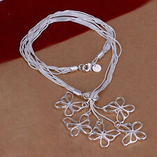 Damenhalskette Schlangenkette Butterfly Halskette pl. mit  Sterlingsilber