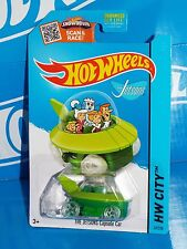 Hot Wheels 2015 Tooned Series #57 The Jetsons Capsule Car Green w/ OH5SPs