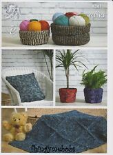 King Cole 4341 Raffia Home Accessories Original Crochet Pattern
