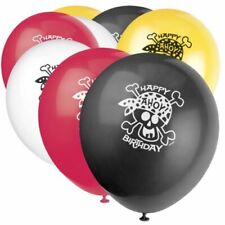 Pirate Party Balloons 8 Pack Helium Quality