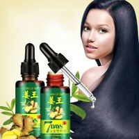Regrowth 7Day Ginger Germinal Hair Growth Serum Hairdressing Oil Loss Treatment^