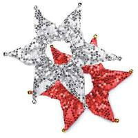 Aria Shimmer Sequin Dog Scrunchy Pet Scrunchies holiday Christmas red silver