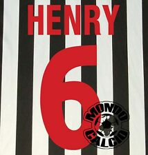 HENRY KIT JUVENTUS HOME NAME SET PERSONALIZZAZIONE NOME NUMERO KAPPA 1998-99