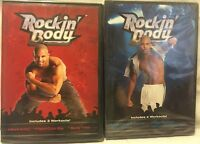7 Rockin' Body workouts on 2 DVDs Shaun T Dance exercise fitness cardio core abs