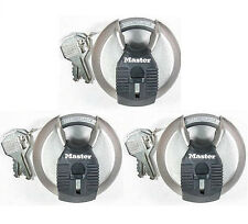 Lock Set by Master M40KA (Lot of 3) KEYED ALIKE Round Sealed Shrouded Carbide