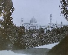 Florence, Italy, Magic Lantern Glass Slide, (Distant View of City)