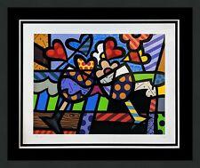 "ROMERO BRITTO ""CELEBRATING"" 2005   SIGNED GICLEE   MAKE AN OFFER   POP ART MIAMI"