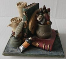 Beautiful vintage Style ceramic Paperweight with old Books