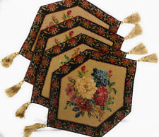 Tache Country Rustic Vintage Morning Awakening Floral Tapestry Placemats 4 PC