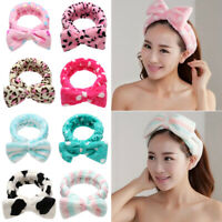 Spa Bath Shower Makeup Wash Face Cosmetic Headband Hair Band Velvet Hairband