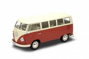 1/18 Welly Volkswagen vw T1 1963 Microbus - 18054 cochesaescala