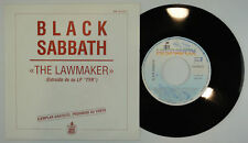"7"" BLACK SABBATH - The Lawmaker SG Spain 1990 – MINT * UNIQUE COVER* HEAVY OZZ"
