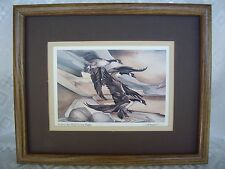 "JODY BERGSMA - ""Follow The Wild Goose Flight"" Art Print Framed & Matted 11""x 9"""