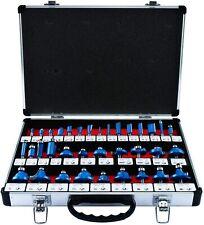 """35Pcs Tungsten Carbide Tip Router Bits Set 1/4"""" Shank Woodworking Cutter Bit Kit"""