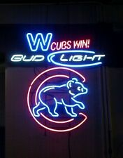 "New Chicago Cubs Win Walking Club Bud Light Mlb Neon Sign 24""x20"""