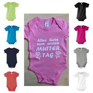 Baby Body ALLES GUTE ZUM 1. MUTTERTAG MAMA Tochter Sohn Mutter Family Eltern