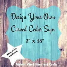 Custom Wood Signs Personalized Gift Carved Sign Carved Design Your Own Address