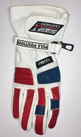 SALE Akito Pole Position Leather Cheap Motorcycle Gloves White Red Blue RRP44.99