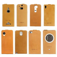 Real Italian Genuine Leather Case Cover Fr iPhone Samsung HTC Nokia LG Sony iPad
