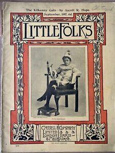 Arthur Rackham LITTLE FOLKS SEPT 1897 Issue Magazine Felix Leigh CASSELL