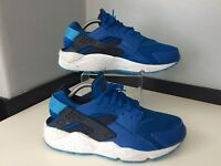 Nike huarache Trainers Sneakers Size 45 Uk 10 Blue & White Vgc