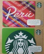 PERU STARBUCKS gift card RARE new unused pin edition siren south america PE lot