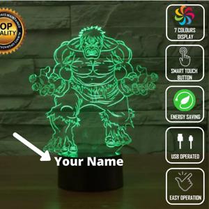 Hulk Custom 3D Night Light LED illusion Touch Switch Table Lamp Kids Toys