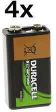4x Original Duracell AKKU Ni-Mh AA 9V 170mAh Rechargeable Aufladbar Lose NEU