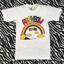 Vintage 70's Rainbow Records Shirt Size Small/XS Music