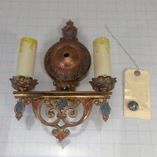 Vintage ANTIQUE Brass Art Nouveau Wall Sconce - REWIRED and READY to GO