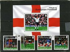 GIBRALTAR 2004 Sc#971-975 SPORTS SOCCER SET OF 4 STAMPS & S/S MNH