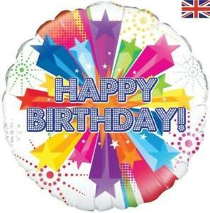 "Oaktree 18"" Foil Balloon Bright Star Birthday Holographic"