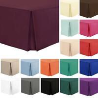 Luxury PLAIN DYED Easy Box Pleated Base Valance Platform Sheets 16inch Bed Skirt