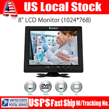 "S801H HD 8"" Color 1024*768 LCD Display Monitor VGA BNC Audio HDMI Input For PC"